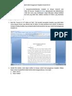 Langkah Praktis (Petunjuk Penggunaan) Template Format UIv1.0