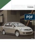 Brochure Oficial Nissan Tiida 1.8 Sedán (2011)