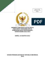 Pidato Pembukaan MS I 2012-2013