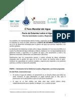 5 to Foro Mundial Del Agua. Pacto de Estambul Sobre El Agua Para Las Autoridades Locales y Regionales. 2009