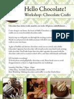 Hello Chocolate! Workshop