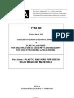 ETAG020 Plastic Anchors Part3 0603Final