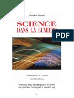 Science dans la lumiere . Jacqueline Bousquet
