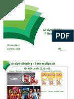 Engro Foods Analyst Briefing 1Q 2013