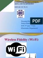 Seminar on Wi-fi