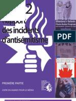 2012 Rapport des Incidents d'Antisétisme