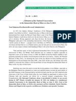 CBCP Circular Letter No. 01 – s. 2013