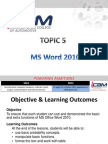 T5 [MS Word 2010]
