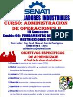 Tema 08 - Administracion de Las Restricciones 102 - 24 Abril 2013