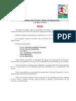 1º TORNEO DE FUTBOL BASE DE MAZAGÓN. BASES
