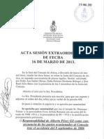 Acta Sesión Extraordinaria 16-03-13
