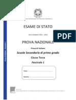 Testo Prova Invalsi Italiano 2012