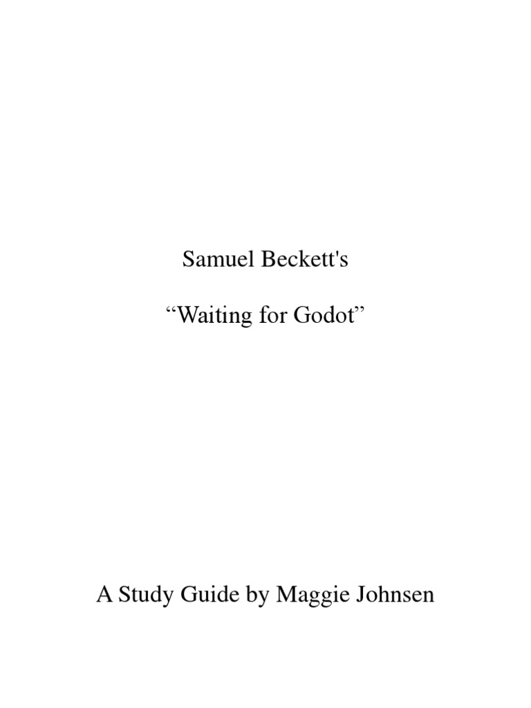 waiting for godot study guide samuel beckett james joyce