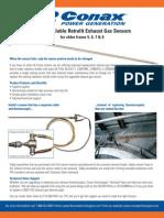 Conax 6064 Exhause Gas Sensor