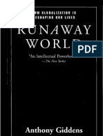 Anthony Giddens -Runaway World (Cap. 1, Routledge, New York, 2000)