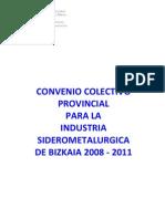Convenio Metal 2008