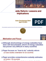 Energy Subsidy Reform Impacts on Social Sectors (By