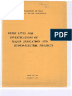 Guidelines Invetigation Major Irrigation Projects 1975