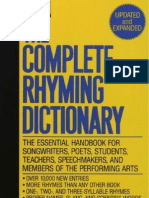 e23d2775659 The Complete Rhyming Dictionary Includes Cover