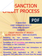 Pre-sanction Credit Process