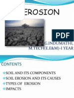 Soil erosion and its effects