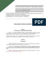 Modelo de Regulamento Interno