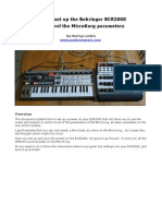 Behringer BCR2000 - Making A MicroKorg Control Preset