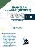 KEHAMILAN KEMBAR (GEMELI)