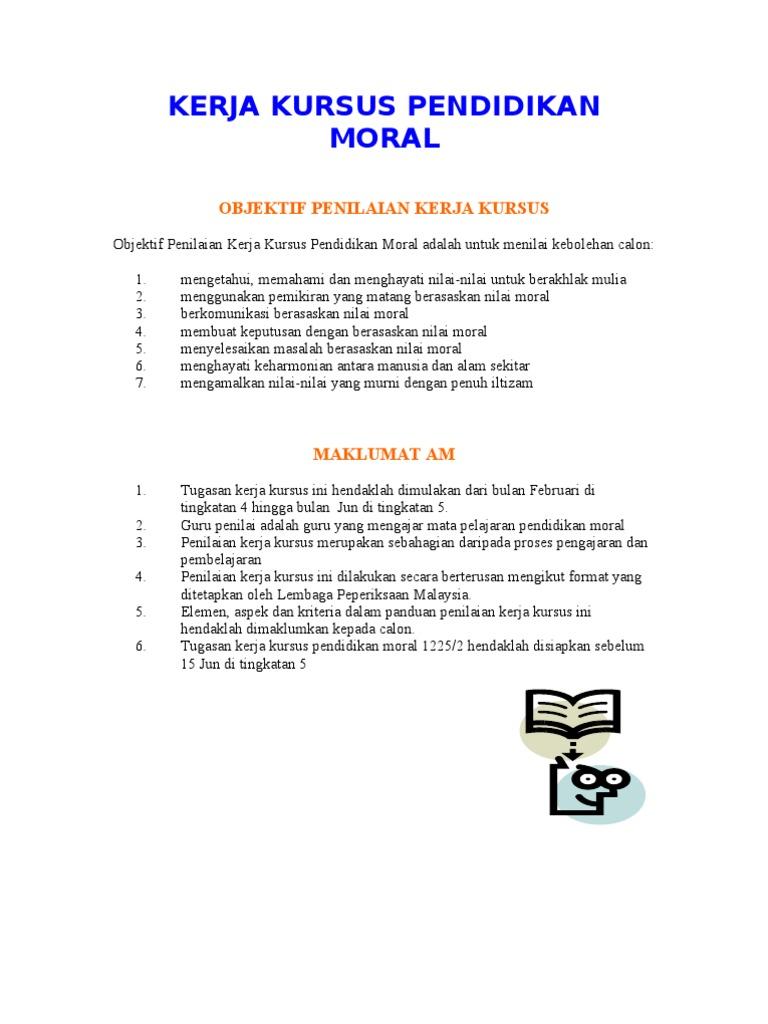Kerja Kursus Pendidikan Moral