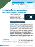 Six Sigma Process Improvements in Automotive Parts Production