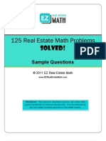 125 Real Estate Math Problems Solved Sample
