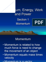 Momentum Impulse Energy Work Power