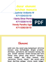 Ilmu Pengetahuan Sosial, Ekonomi, PGSD semester 1
