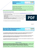 Example Risk Assessment for a Woodworking Company Updated 15-02-11