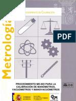 procedimiento de calibracion para manometros-norma española