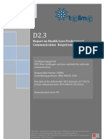 D2.3 Report on Health Care Professional Communication Requirements