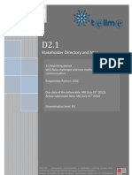 D2.1 Stakeholder Directory and Map (Website Version - No Directory)