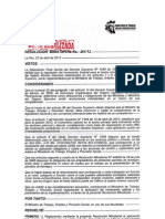 R.M. Nº 261 DE 22 DE ABRIL DE 2.013