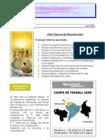 Boletin Pastoral Abril 09