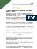 2012 Aut Orden 22-05-2012 Peligro Alto Incendios INFOEX 2012