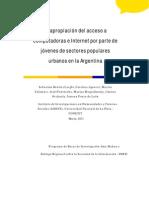 Benítez Larghi et al_Apropiación del acceso público a las TIC por jóvenes de sectores populares