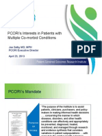 PCORI's Interests in Patients with Multiple Co-morbid Conditions