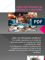 Atencion Primaria de Emergencia y Desastres No 3