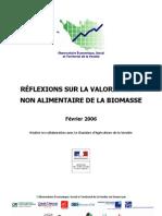 Reflexion Sur La Valorisation Non Alimentaire de La Biomasse