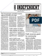 Faith Independent, April 24, 2013