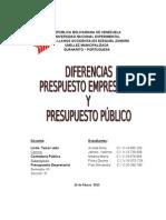 INFORME Diferencia con el Presupuesto Público