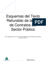Esquemas Del Texto Refundido de La Ley de Contratos Del Sector Publico