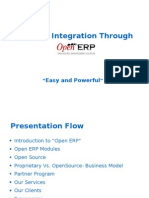 Business Integration through OpenERP