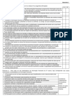 Exercício 1 - Informação financeira