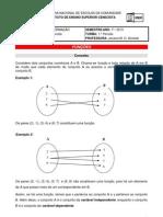 FUNÇÕES - sistemas de informação 2013-1